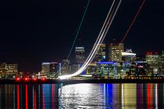 (cvillandry (Instagram & Twitter @cvillandry)) Tags: ocean city longexposure boston skyline night airplane lights airport aviation lighttrails