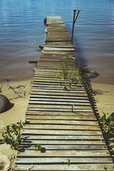 Camino al agua... (Pablin79) Tags: wood light beach water argentina colors river island coast pier dock sand outdoor shore misiones posadas