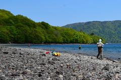 Lake Chuzenji fishing (louisemarston) Tags: lake japan nikko lakechuzenji nikkonationalpark