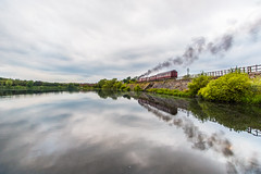 Reflections of steam (alanrharris53) Tags: reflection train rail steam met1 charter preservation butterley
