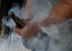Farrier Time (warth man) Tags: horse hot smoke heat smokey d750 hoof shoeing horseshoes farrier nikon135mmf2dc