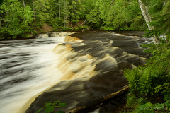 Lower Tahquamenon Falls (2016-06-15 0927) (bechtelsf) Tags: longexposure water river waterfall nikon stream michigan falls lower upperpeninsula tahquamenon d810