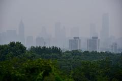 Nanjing Skyline (jacques_teller) Tags: china cloud mist mountain green tower skyline nikon purple space nanjing nikonistas nokonian d7200