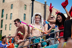 Chicago Gay Pride Parade 2016 (Chicago_Tim) Tags: gay shirtless usa chicago sexy guy lesbian illinois colorful underwear pride parade celebration lgbt speedo trans swimsuit queer boystown 2016