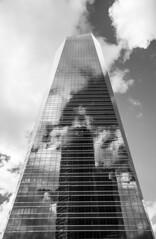 Torri Madrid (Riccardo Nobile Photos ) Tags: madrid sky espaa cloud white black tower clouds cuatro spain torre towers cielo spagna torri torres castilla tetuan