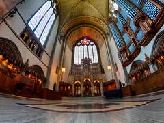 Rockefeller Chapel (MacDonald_Photo) Tags: chicago church cathedral chapel olympus universityofchicago trailblazer 8mm olympuspen zuiko omd penf zd mft olympuspenf 8mmfisheye rockafellerchapel jamieamacdonald microfourthirds 43 httpwwwjmacdonaldphotocom olympustrailblazer