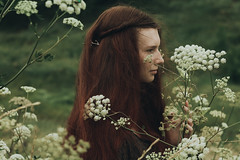 Red hair and freedom (Alina Autumn) Tags: new flowers girls light portrait flower color green art history love nature girl beautiful forest vintage hair photo mood photographer natural russia outdoor beaty redhead harmony freckles melancholy tragic tenderness tragedic fragility