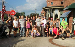 Claire Byars Packs Yoga Porch At Rumors Deli (cullmantoday) Tags: county yoga claire alabama cancer deli benefit rumors cullman byars santosha