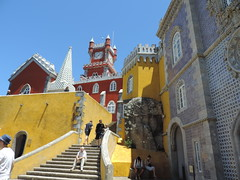 Pena Palace, Sintra, Portugal, June 2016 (leonyaakov) Tags: sintra portugal tourism travel castle park sunnyday summer architecture art holiday attraction inspiredbylove ceramic tiles nikonflickraward
