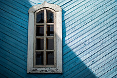 Shades of Devotion (ewitsoe) Tags: street wood city blue summer building window architecture 35mm outside wooden worship exterior display god crosses poland polska russian eastern orthodox smalltown villiage orthodoxchurch religeon nikond80 dubiczecerkiewne ewitsoe