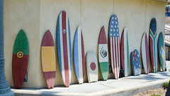 Boards of the World 2 (Kevin MG) Tags: usa ca orangecounty huntingtonbeach sports vans usopen surfboard flags world statue sculpture