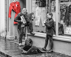 DSC_1761 Accordian guy (irishman67) Tags: black white blackwhite blackandwhite streetphotography musicians ennis coclare ireland