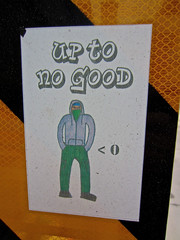 Up to No Good, Lincoln, NE (Robby Virus) Tags: lincoln nebraska sticker slap up to no good gangsta criminal