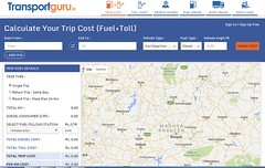 Trip cost (transportguru1) Tags: travel india road trip route planner finder