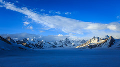 Its Out There (ZaIGHaM-IslaM) Tags: freezing air mountains snow ice happiness hisperbacecamp snowlake pakistan hisper evening sunset bluesky sky