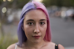 Sacramento Strangers #3 (NickSmyth) Tags: portrait portraiture face eye eyes eyebrows mouth lips nose hair pink purple bokeh bokehlicious green greeneyes stranger strangers street streetportrait streetportraiture sacramento california neon neonhair canon canon5dmarkiii canon5dmkiii 50mm 5d 5dmarkiii 5dmkiii sigma sigmalens sigma50mmf14dghsmart artlens art fullframe f14 photography photograph photoshop photo people person picture grass car cars