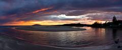 Gerroa Sunsets (PhilliB123) Tags: canon 600d t3i panorama australian south coast nsw tokina 1116mm sunset seven mile beach gerroa coastline
