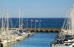 DNK / FIN / SWE (C.Kalk DigitaLPhotoS) Tags: yachthafen marina yacht boat segelboot sailingboat denmark finland sweden dnemark finnland schweden flagge flag sea meer mole wasser water outdoor grmitz germany