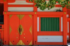 Sumiyoshi Shrine Orange Doors (pokoroto) Tags: sumiyoshi shrine orange doors fukuoka   kyushu  japan 8   hachigatsu hazuki leafmonth 2016 28 summer august