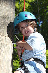 I can do this ! (M.J.H. photography) Tags: jess ropes climb c3kc camp 5 5yearsold