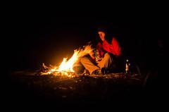 Comfort fire (VernsPics) Tags: 2016 kelpie birrell blue camp cox dunphys lake mountains point river