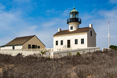Point Loma Lighthouse, San Diego (Jill Clardy) Tags: diego point loma lighthouse pacific ocean harbor san navy naval blue sky clear day explore explored