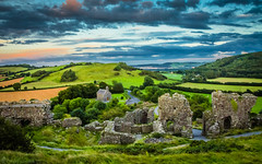 The Rock of Dunamase (Fergal Gleeson) Tags: landscape nature scenic outdoors view countryside fields clouds sky sunset ruins castle ancient old stone walls hills valley grass green summer harvest celtic laois ireland