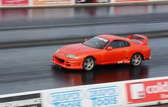 Supra (Fast an' Bulbous) Tags: car automobile vehicle racecar outdoor motorsport drag race strip track santa pod england nikon d7100 gimp september fast speed power acceleration