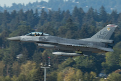 Dice 1 (sabian404) Tags: 930817 general dynamics f16a fighting falcon viper f16 lockheed martin lf luke air force base 21st fighter squadron 21fs united states usaf portland international airport pdx kpdx