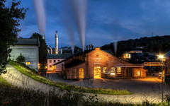 Rygene, Arendal (yvind Bjerkholt (Thanks for 31,8 million+ views)) Tags: architecture factory industrial smoke pipes historic rygene arendal norway landscape night beautiful hdr longexposure