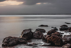 Lindisfarne Low Light (Richard burtle) Tags: bleakness bleak lowlight timeexposure rural northeast north distance distant northumberland shoreline shore island sunset blur causeway still holy holyisland stcuthbert farne longexposure sea seaside rocks rock sky evening dusk horizon priory sand stone wet water cloud