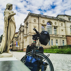 20160619-IMG_20160619_125713 (jbdodane) Tags: badenbaden baths bicycle cycletouring cyclotourisme europe freewheelycom germany hotspring statue jbcyclingnordkapp