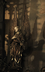 Rejoicing Angel II (Lawrence OP) Tags: wood washingtondc dominican carving angels dhs reredos houseofstudies