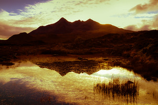 Sunset Over The Black Cuillins