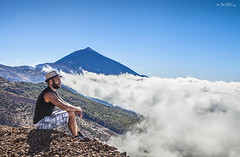 Sea of Clouds (Ben Heine) Tags: life voyage travel sea portrait inspiration love tourism nature colors beauty clouds print landscape island photography freedom volcano climb vacances seaside spain holidays rocks colorful artist drawing earth think creative free lifestyle bluesky visit tourist libert enjoy sit tenerife terre breathe naturalbeauty nuages paysage visitor teide curiosity espagne lunar canaryislands losroques volcan seaofclouds touriste ilescanaries merdenuage 7islands benheine artmission benheineart promotur illustratedjourney onthedraw