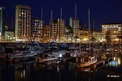 Puerto deportivo de Gijn (amajocu) Tags: espaa puerto noche mar spain nikon barcos gijn asturias spanien spagna reflejos spagne d5100