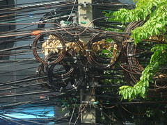 Bangkok utility pole (ashabot) Tags: thailand seasia bangkok citylife citystreets streetscenes randomencounters worldcities