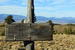 Almost too far... (Bob Palin) Tags: 15fav usa sign 510fav utah october hiking waynecounty club100 100vistas instantfave orig:file=2014101421941adjust1024