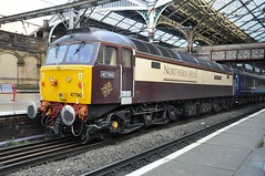 "Direct Rail Services 'Northern Belle' Class 47/7, 47790 ""Galloway Princess"" (37190 ""Dalzell"") Tags: spoon pullman preston duff drs northernrail class47 railnet 47790 brush4 directrailservices northernbelle class477 gallowayprincess umbercream christmasshopperadditional"