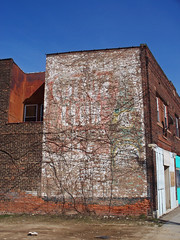 OH Cleveland - Cotton Club Ad (scottamus) Tags: old ohio building brick sign vintage painting cleveland ghost ad advertisement faded product cottonclub cuyahogacounty
