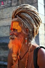साधु sādhu (YellowSingle 单黄) Tags: nepal temple nikon valley passion kathmandu 28 hinduism pashupatinath moksha 2470mm d700 sādhu साधु