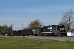NS 857 - Fostoria, Ohio (dti407) Tags: park railroad ohio digital nikon ns norfolk southern coal fostoria 2014 857 d7000