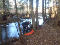 Dyberry Creek (Delaware River Basin Commission (DRBC)) Tags: ice fieldwork hobo naturalgas freshwater waterquality onset conductivity nontidal drbc