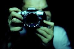 selfie time again (hnt6581) Tags: film analog vintage mirror xpro photographer minolta kodak crossprocess grain slide chrome m42 tungsten manual dynax 135 alpha expired 35 ektachrome maxxum selfie 64t reversal c41 yashinon dynax5 yashinon5017