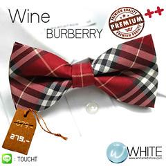Wine BURBERRY Style Collection - หูกระต่าย ลายสก๊อต โทนสี แดงหม่น ลาย ดำ เทา ครีม เบอเบอร์รี่ หูกระต่าย ลายสก๊อต โทนสี แดงหม่น ลาย ดำ เทา ครีม เบอเบอร์รี่ Premium Quality