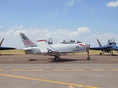 North American FJ-4B Fury (Sentinel28a1) Tags: airshow sabre usnavy fury elcentro northamerican fagu fj4 fj4b greatfallsinternationalairport migfury