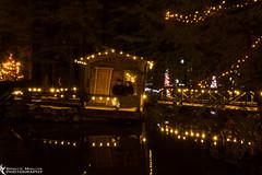 Sinking Cabin (azcangal) Tags: christmas xmas bridge winter canada night vancouver canon eos lights nightlights bc suspension britishcolumbia north t5i canoneost5i