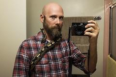 Me and Snakey (bhop) Tags: california portrait self ball mirror los fuji angeles reptile snake fujifilm python plaid selfie x100 x100t