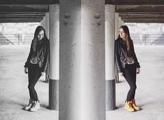 Pauline (Pelyah) Tags: life street girls light portrait urban blackandwhite orange woman sun color nature colors girl beautiful smile face fashion female canon hair pull photo model pretty shoot girly femme style smiley 7d shooting mode fille modele naturel booked