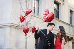 (irina_kra) Tags: life light red portrait people fall love balloons engagement couple pretty dress heart naturallight 50mm18 nikond300